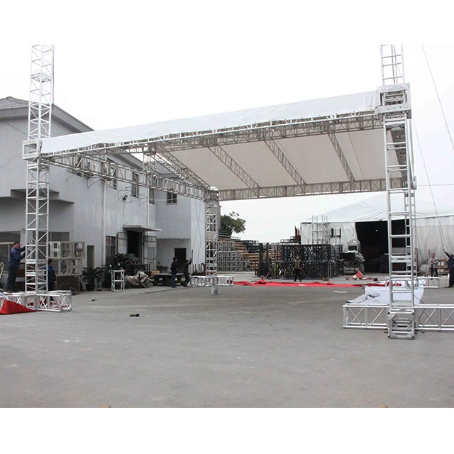 Gable Shape Aluminum Truss Roof System with Stage for Event
