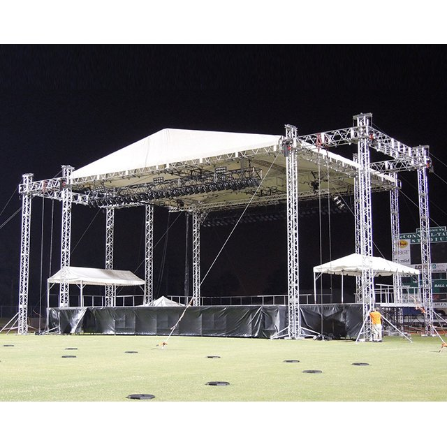 Heavy Duty Outdoor Concert Aluminium Alloy Pyramid Roof Truss Structure with Wing