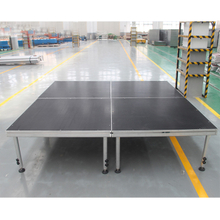 Quick Installation Height Adjustable Temporary Stage with Optional Legs