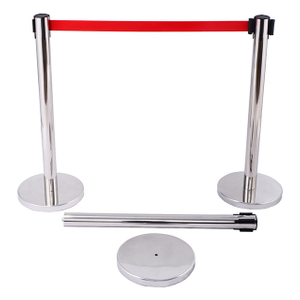 Retractable Red Belt Crowd Control Barrier D-R010