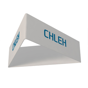 Custom Printed Triangle Exhibition Hanging Ceiling Banner