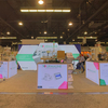 20'x20' Custom Shape Backlit Trade Show Backdrop Display Design