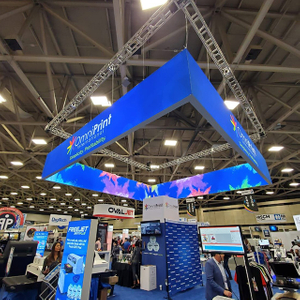 Formulate Square Backlit Display SEG Frame Hanging Sign for Trade Show