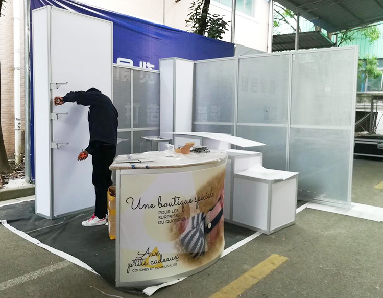 Portable Exhibition Display : Portable aluminum ft exhibition display stand from china