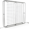 10ft Portable Aluminum Pipes Trade Show Backlit Wall with Counter