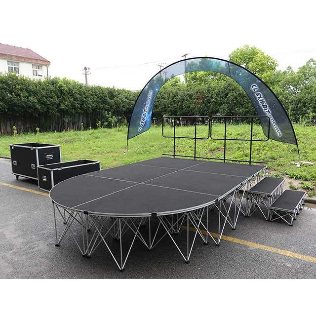 Aluminum Frame Carpeted Portable Stage for Hotel