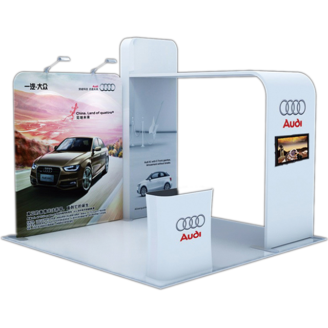 Portable Aluminum Trade Show Exhibition Display Design 20x20 from