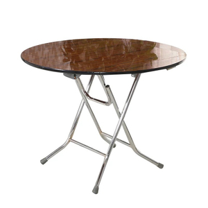 Trade Show Sqaure/round Plywood Foldable Table