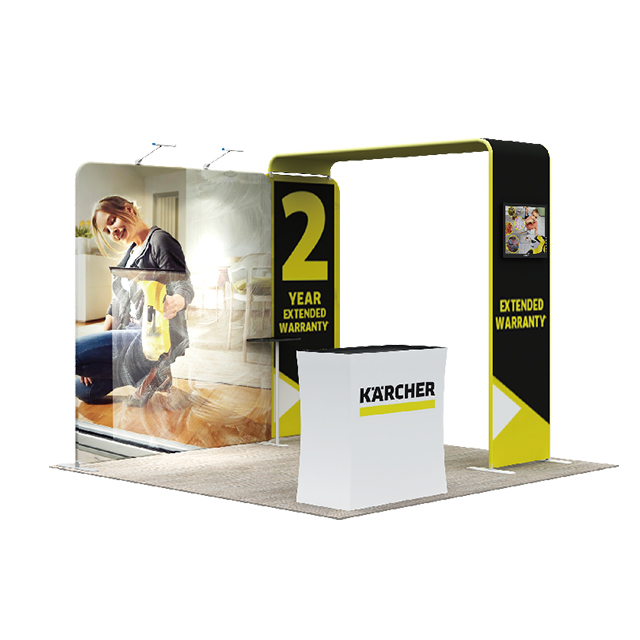 Portable Exhibition Booths : Trade show portable exhibition booth display backdrop stands from