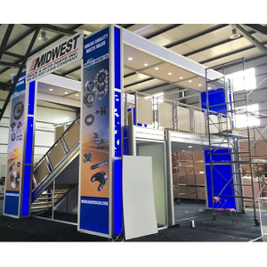 Custom Double Deck Exhibition Stand Modular Two Storys Booths for Trade Show