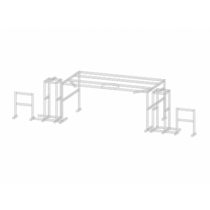 Indoor Heavy-duty Aluminum Box Truss Structure with Led Truss