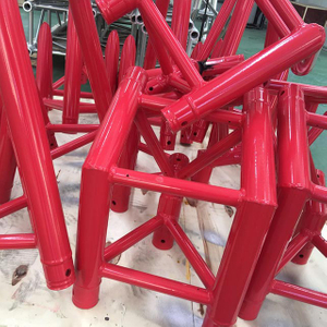 Coated Red Spigot Aluminum Truss Display