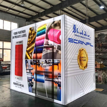 Aluminum Portable Trade Show Display 10x10 Illuminated Exhibition Booth with Storage Room