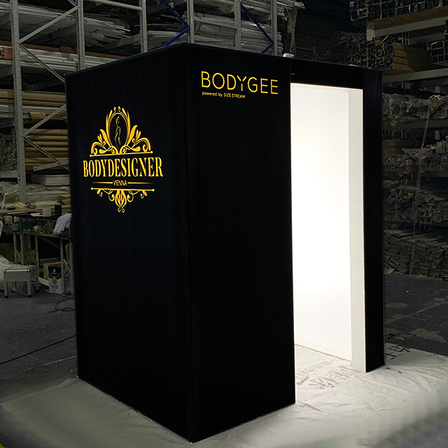 6'x4'x7' Custom Design Aluminum Illuminated 3D Scan Body Room Light Box Booth
