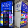 Tradeshow Exhibit Display Illuminated Tension Fabric Closet Room with Hanging Sign